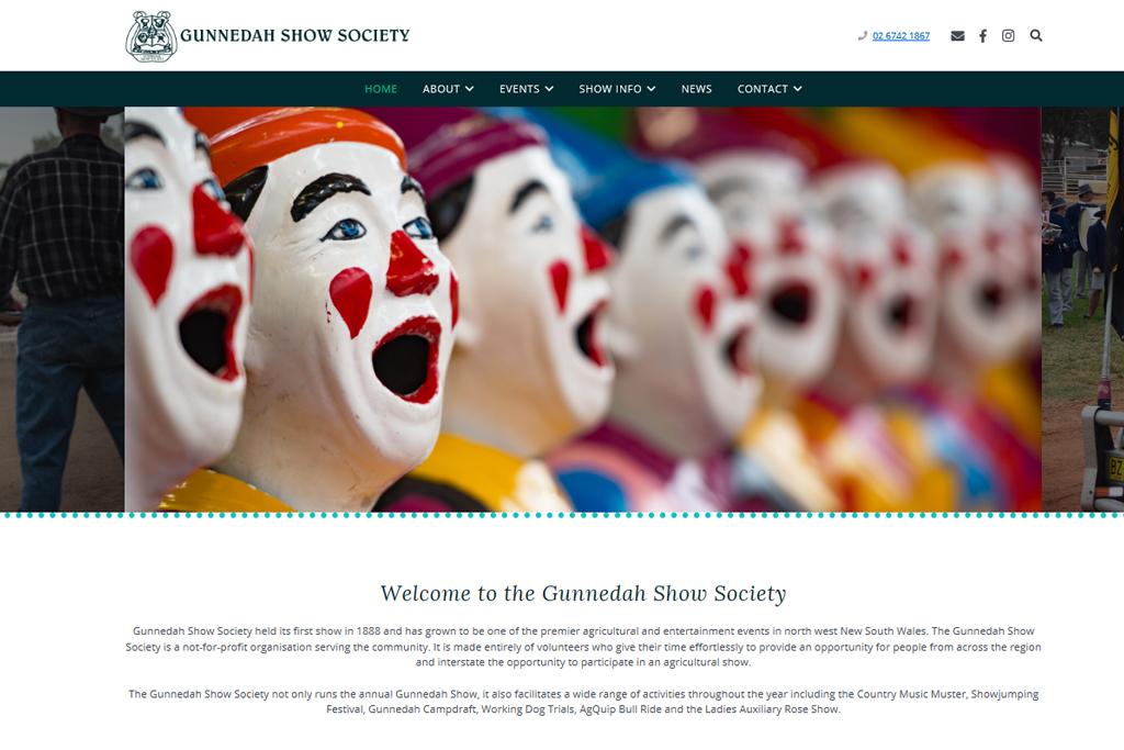Gunnedah Show Society website – Reasy Design | Web Design, Graphic